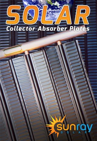 Solar collector absorbers sun ray solar solar water heating solar collector absorbers sun ray solar solar water heating and pool heating sciox Gallery