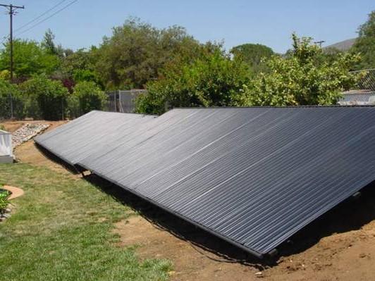 Copper pool heating panels sun ray solar solar water heating sun ray sciox Gallery